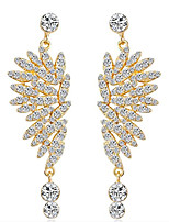 cheap -Women's Cubic Zirconia Drop Earrings Tassel Fringe Stylish Gold Plated Earrings Jewelry White / Gold For Party Evening Prom Birthday Festival 1 Pair