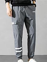 cheap -Men's Hiking Pants Trousers Stripes Summer Outdoor Ripstop Quick Dry Multi Pockets Breathable Pants / Trousers Bottoms D107 black D106 black D106 Army Green D107 light gray D107 Khaki Hunting Fishing