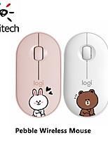 cheap -logitech pebble wireless silent mouse cartoon animal line 1000dpi computer pc laptop mute cordless optical mice
