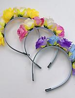 cheap -new children garland small fresh rose flower headband simulation flower headdress creative hair accessories travel photo accessories