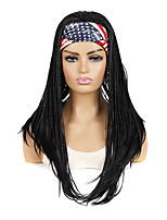 cheap -colored hair band style small dirty braid wig headgear hair band style small braid wig headgear three-strand braid wig headgear