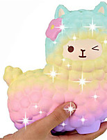 cheap -Jumbo Squishy Rainbow Sheep Alpaca Squishies Slow Rising Squeeze Scented Charms Kawaii Stress Relief Animal Toys for Kids Adults Stress Relief Time Kill Toys