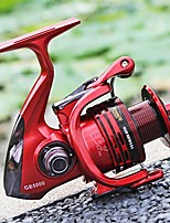 cheap -danoensit spinning fishing reels 14 ball bearing and durable metal reel models1000-7000 3 colors red 4000 series