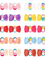 cheap -21004 spring and summer new color hair ball hairpin, handmade threaded hair accessory, ribbon bow headdress