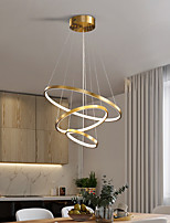cheap -LED Pendant Light 80 cm Ring Circle Lantern Desgin Copper Brass LED 110-120V 220-240V