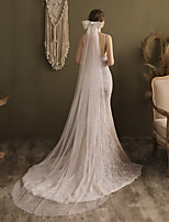 cheap -One-tier Elegant & Luxurious Wedding Veil Chapel Veils with Satin Bow Tulle