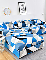 cheap -1 Pc Geometric Blue Black White Lines Sofa Cover Elastic Sofa Cover To Living Room Pet Sofa Dust Cover Recliner Sofa Cover
