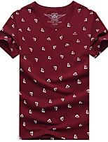 cheap -Men's T shirt Hiking Tee shirt Short Sleeve Tee Tshirt Top Outdoor Quick Dry Lightweight Breathable Sweat wicking Autumn / Fall Spring Summer claret Sapphire White Hunting Fishing Climbing
