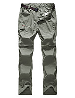 cheap -Men's Hiking Pants Trousers Hiking Shorts Convertible Pants / Zip Off Pants Summer Outdoor Loose Quick Dry Breathable Stretchy Sweat wicking Shorts Pants / Trousers Black Army Green Khaki Light Green