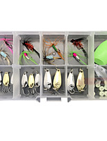 cheap -30 pcs Lure kit Fishing Lures Spoons Flies Floating Sinking Bass Trout Pike Lure Fishing Freshwater and Saltwater