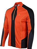cheap -gore bike wear men's oxygen windstopper soft shell jacket, vibrant orange/black, medium