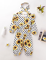 cheap -Toddler Girls' Overall & Jumpsuit Graphic Print Yellow Active 2-6 Years