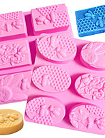cheap -Baking Molds Cake Molds Reusable BPA Free Silicone Soap Molds Silicone Molds Honeycomb Animal for DIY Cake Making Rectangle Pink Soft