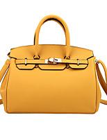 cheap -Women's Bags PU Leather Satchel Top Handle Bag Date Office & Career 2021 Handbags Black Red Yellow Khaki