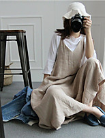 cheap -2019 spring and summer wide-leg one-piece pants skirt large size cotton and linen suspenders casual students wild loose linen overall
