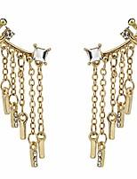 cheap -sluxa tassel ear cartilage, diamond ear clips, fashion ear cuff for girls. (#7)