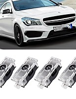 cheap -OTOLAMPARA Car Logo Laser Project Ghost Door Light for Mercedes AMG E CLA CLA Class Auto Emblem Welcome Lamp Courtesy Shadow Under Luces 2pcs