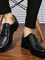 cheap -Men's Oxfords Leather Shoes Printed Oxfords Bullock Shoes Business Casual Classic Athletic Outdoor Walking Shoes Nappa Leather Cowhide Breathable Non-slipping Shock Absorbing Booties / Ankle Boots