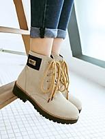 cheap -Women's Boots Chunky Heel Round Toe PU Synthetics Black Blue Green