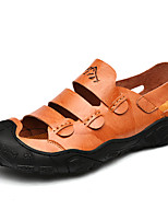 cheap -Men's Sandals Beach Outdoor Nappa Leather Breathable Non-slipping Wear Proof Black Brown Spring Summer