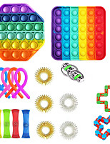 cheap -19 pcs Fidget Toys Anti Stress Set Stretchy Strings toys for Adults Children Gift Pack Squishy Sensory Antistress Relief Figet Toy