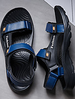 cheap -Men's Sandals Beach Daily Nappa Leather Breathable Non-slipping Wear Proof Black Dark Blue Gray Summer