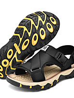 cheap -Men's Sandals Casual Beach Daily Elastic Fabric Tissage Volant Breathable Non-slipping Wear Proof Black Khaki Brown Summer