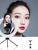 cheap -7.87inch LED Ring Light Dimmable LED with Tripod Stand With Phone Holder 3 Color Lighting ModesForPhotography Tiktok Youtube Video Makeup Live Streaming Selfie Video Shotting