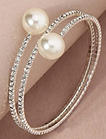cheap -Women's Wrap Bracelet Bracelet Tennis Chain Wedding Simple Elegant Fashion Rhinestone Bracelet Jewelry Silver For Wedding Anniversary Party Evening Gift Date