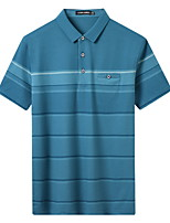 cheap -Men's T shirt Hiking Tee shirt Golf Shirt Short Sleeve Tee Tshirt Top Outdoor Quick Dry Lightweight Breathable Sweat wicking Autumn / Fall Spring Summer Light Green Dark Blue Hunting Fishing Climbing