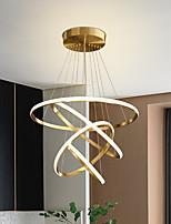 cheap -LED Pendant Light 4 Rings 80 cm Modern Circle Desgin Pendant Light Copper Brass LED 110-120V 220-240V