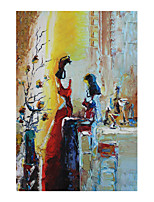 cheap -IARTS Hand Painted confidante Oil Painting with Stretched Frame For Home Decoration
