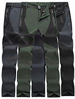 cheap -Men's Hiking Pants Trousers Patchwork Summer Outdoor Quick Dry Breathable Sweat wicking Wear Resistance Bottoms Black Army Green Grey Hunting Fishing Climbing L XL XXL XXXL 4XL