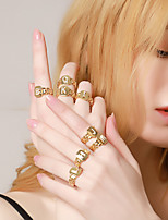 cheap -26 letter ring, opening adjustable geometric pattern ring
