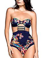 cheap -raisingtop ladies padded swimsuit swimwear high waisted beachwear push-up monokini bikini one piece off shoulder new (blue, us 8-10)