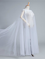 cheap -Sleeveless Sexy / Bridal Tulle Wedding / Party / Evening Women's Wrap With Appliques