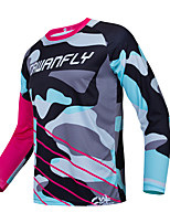 cheap -CAWANFLY Men's Long Sleeve Cycling Jersey Downhill Jersey with Pants Dirt Bike Jersey Winter Red+Blue Black / Blue Novelty Funny Bike Tee Tshirt Jersey Top Mountain Bike MTB Road Bike Cycling Quick