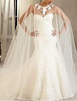 cheap -Sleeveless Voiles & Sheers / Bridal Polyester Wedding / Party / Evening Women's Wrap With Lace