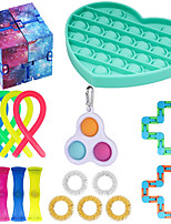 cheap -18pcs Sensory Fidget Toys Set Bundle-DNA Pop Bubble Soybean Squeeze Stress Relief Balls with Fidget Hand Toys for Kids Adults Calming Toys for ADHD Autism Anxiety Relief