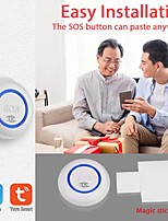 cheap -TUYA WiFi SOS Button Wireless SOS Emergency Button Alarm Home Burglar Alarm Sensor 2.4G Sensor Panic Button Smart Alarm Sensor5.0