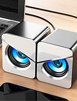 cheap -V-116 USB Wired Computer Speaker Bass Stereo Colorful LED Light Home Desktop For PC / Laptop / Mobile Phone / MP3 / MP4 / DVD