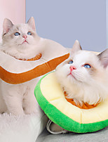 cheap -Dog Cat Pet Cone Pet Recovery Collar Elizabeth circle Adjustable Stress Relieving Safety Anti-Bite Lick Wound Healing After Surgery Protective Walking Avocado Bread Shaped Cotton Small Dog White Pink