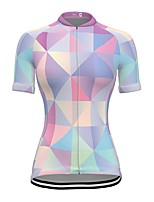 cheap -21Grams Women's Short Sleeve Cycling Jersey Spandex Sky Blue Bike Top Mountain Bike MTB Road Bike Cycling Breathable Sports Clothing Apparel / Stretchy / Athleisure