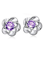 cheap -jewelry blooming plum earrings platinum-plated earrings