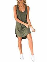 cheap -wephupsho women's casual tank t shirt dresses sleeveless i-back solid color irregular hem summer loose swing dress sundress clothing (green, m)