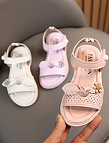 cheap -Girls' Sandals Comfort Flower Girl Shoes Princess Shoes PU Big Kids(7years +) Daily Home Walking Shoes Bowknot Flower Purple Pink Beige Spring Summer