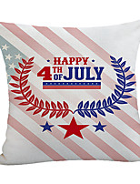 cheap -Double Side Print Independence Day Cushion Cover 1PC Linen Soft Decorative Square Throw Pillow Cover Cushion Case Pillowcase for Sofa Bedroom 45 x 45 cm (18 x 18 Inch) Superior Quality Machine Washable