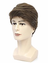 cheap -Synthetic Wig Natural Straight Short Bob Wig Short Brown Synthetic Hair Men's Cosplay Party Fashion Brown