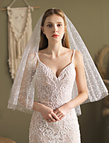 cheap -Two-tier Comtemporary / Stylish Wedding Veil Fingertip Veils with Solid Tulle