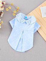 cheap -Dog Cat Shirt / T-Shirt Dot Basic Adorable Cute Casual / Daily Dog Clothes Puppy Clothes Dog Outfits Breathable Red Blue Costume for Girl and Boy Dog Cotton Fabric S M L XL XXL